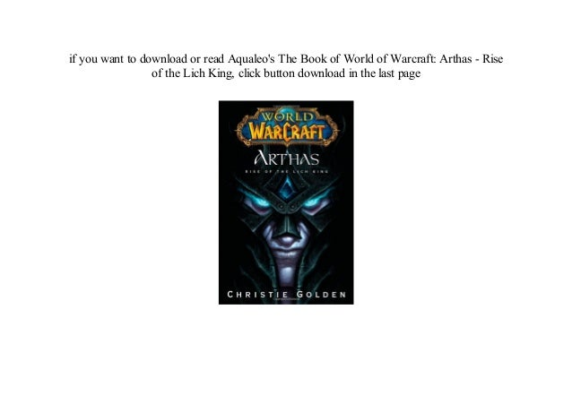 arthas rise of the lich king ebook