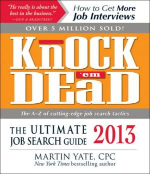 knock em dead the ultimate job search guide epub