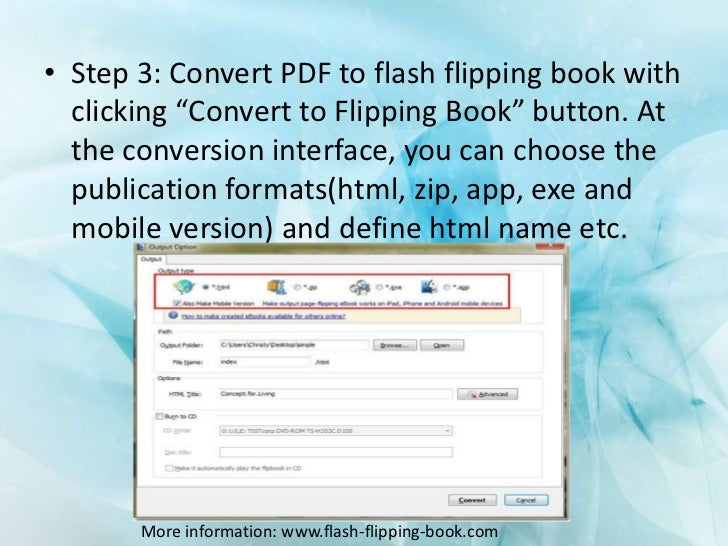 how to convert pdf to flipping ebook