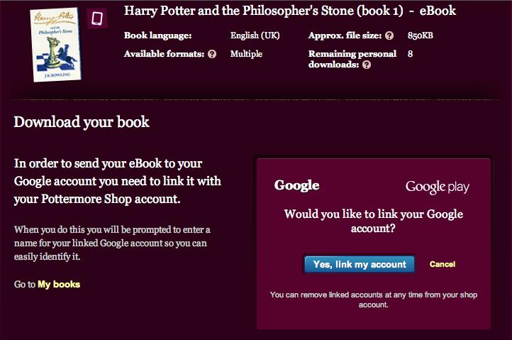 harry potter ebook kindle download