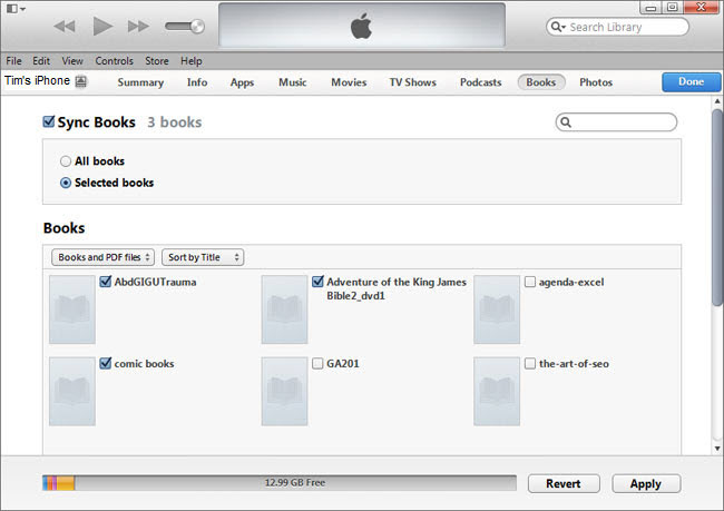 how to transfer epub to ibooks on iphone