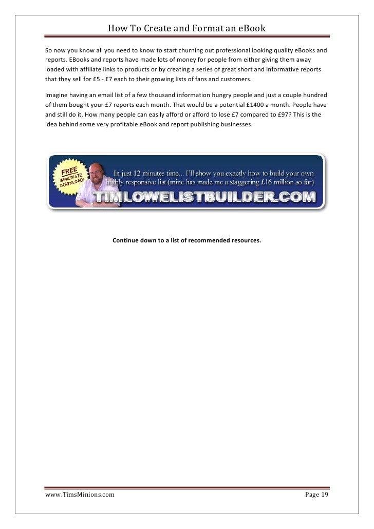 ms word template creator ebook free download