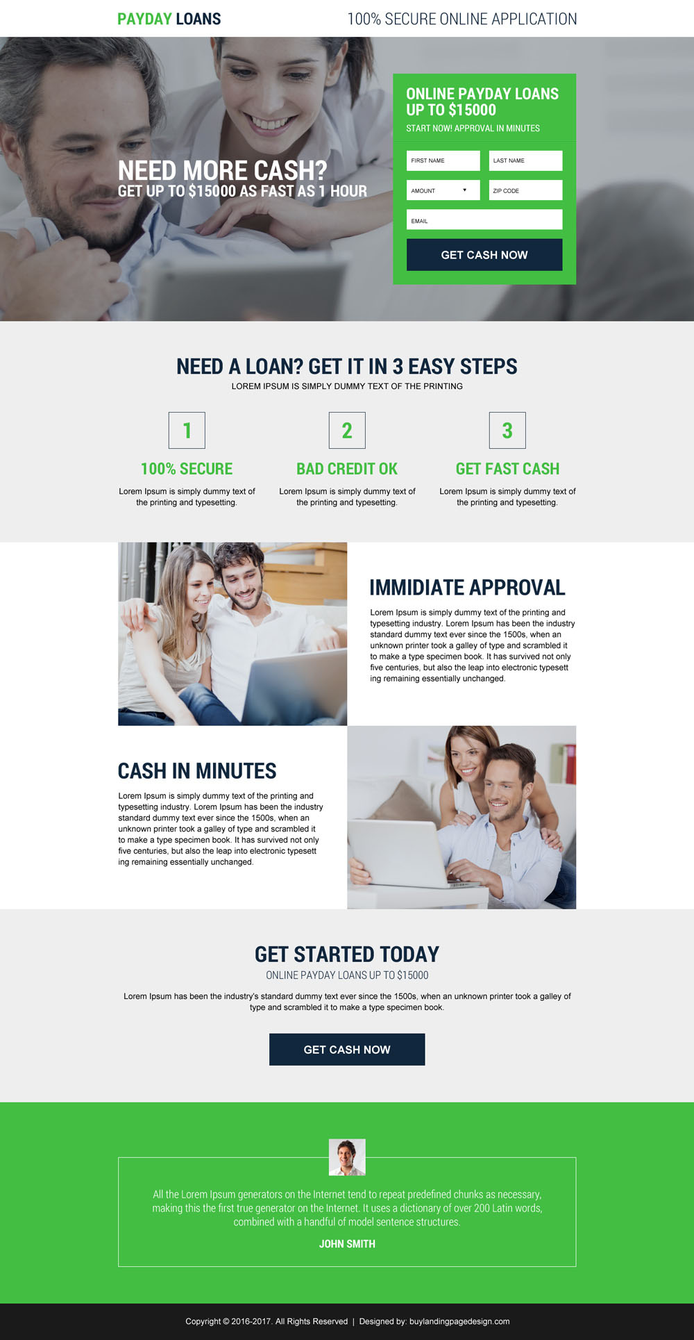 best converting ebook landing page
