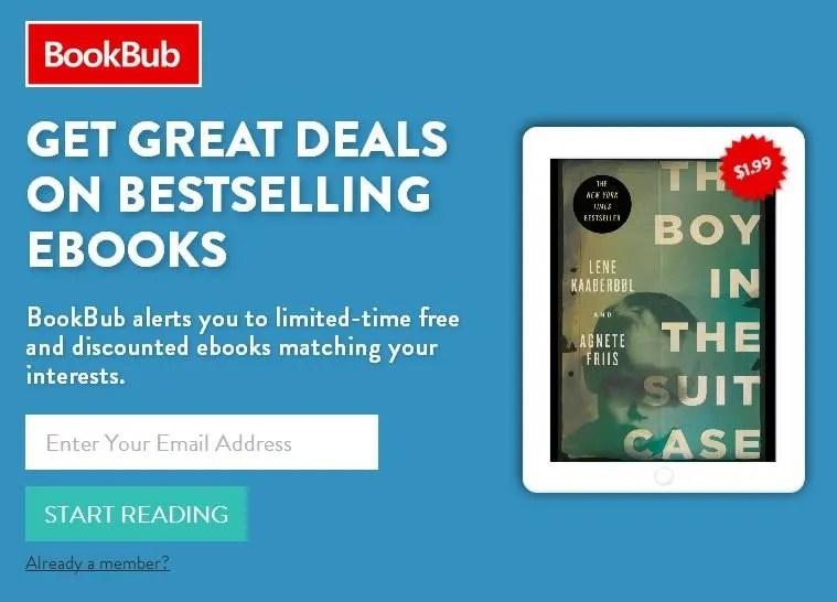 sudden site https www.bookbub.com ebook-deals recommended
