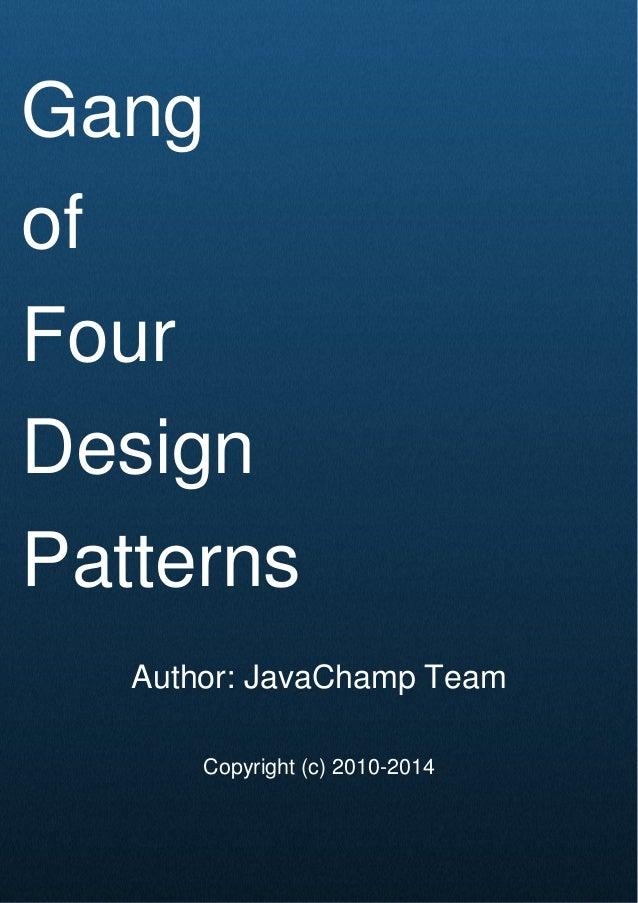gang of four design patterns ebook