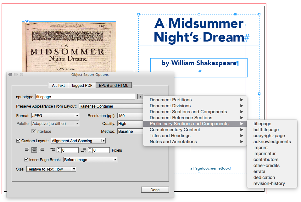 how to set up an ebook in indesign