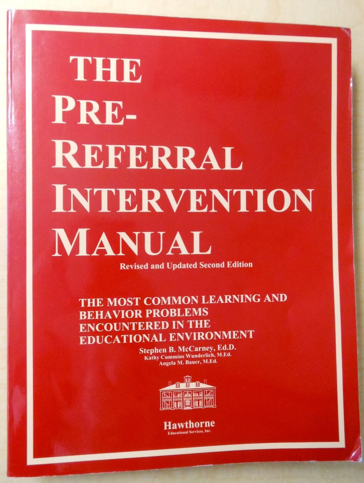 pre referral intervention manual ebook